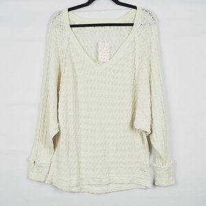 We the Free Loose Knit Long Sleeve Top Cotton M